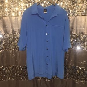 Nike Casual Blue Button Down Shirt Large